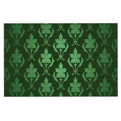 KESS InHouse KESS Original 'Emerald Damask' Green Pattern Dog Place Mat, 13' x 18' > Amazing product just a click away  : Dog food container