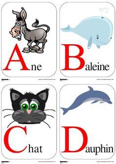 Un abécédaire animalier, au format A4 à afficher dans votre classe.