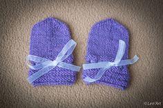 Moufles naissance , 0-3 mois en laine bio : Mitaines, gants par len-art