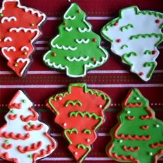 Chocolate Sugar Cookies Iced with Royal Icing and decorated for the holidays!
