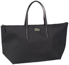 LACOSTE L.12.12 Concept Large Shopping Bag - Black - APPARELIQUE 0f18bbd06b2
