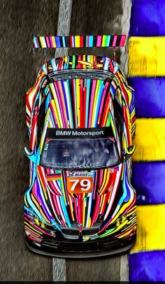 M3 GT2 painted by American artist Jeff Koons unveiled last year for the 24 hr Le Mans race