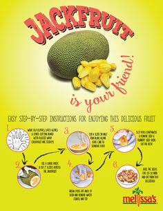 How to tell when a Jackfruit is ripe and how to cut it: As the fruit ripens the skin turns to a yellow color and is very fragrant. The pink or yellow flesh is best when eaten fresh with hints of mango and melon.  More here:  http://www.melissas.com/Jackfruit-p/707.htm