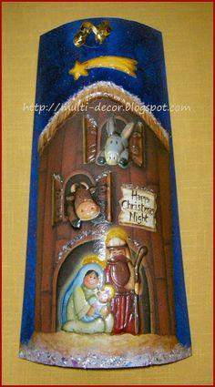 Resultado de imagen para decoracion navidad con tejas