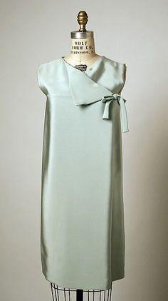 Cocktail dress Design House: House of Balenciaga  (French, founded 1937) Designer: Cristobal Balenciaga (Spanish, Guetaria, San Sebastian 1895–1972 Javea) Date: fall/winter 1966–67 Culture: French Medium: silk