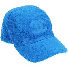 Pre-owned Chanel Blue Terry Cloth CC Baseball Cap ($465) ❤ liked on Polyvore featuring accessories, hats, chanel, logo ball caps, stitch hat, baseball cap and chanel hat