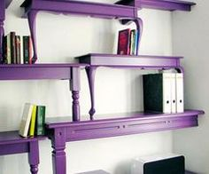 Vintage Upcycle Project DIY's OMGoodness~ Love the violet purple