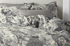 Cotton Grey Garden Floral Bed Set