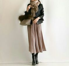 Best Women S Fashion Backpack Japan Fashion, Look Fashion, Daily Fashion, Paris Fashion, Trendy Fashion, Winter Fashion, Womens Fashion, Trendy Style, Long Skirt Fashion