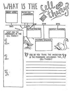 This graphic organizer can be used to introduce or review the Cell Theory with your student. Includes timeline of important discoveries supporting the cell theory and visuals to help students remember the topic. Students can fill in the blanks and color it.: