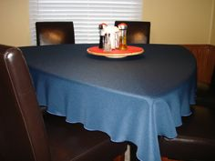 75 Navy Triangle Tablecloth For Dining By Knotsewinnocent