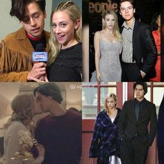 bughead on & off stage:) - - - Archie Jughead, Betty And Jughead, Bughead Riverdale, Riverdale Memes, Lili Reinhart And Cole Sprouse, River Dale, Archie Andrews, Dylan Sprouse, Betty Cooper