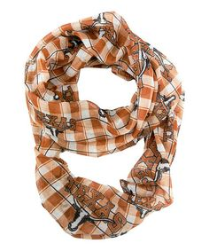 Love this Texas Longhorns Sheer Infinity Scarf on #zulily! #zulilyfinds