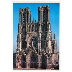 SIVADE. Cathédrale de Reims. Offset Offset, Reims, Cologne, Auction, Posters, Building, Travel, Viajes, Buildings