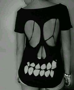 DIY Skull Cutout T-Shirt Design and Instructions