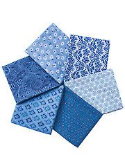 Fabric - Pretty Blue Prints Fat Quarters - 6/pkg. - #276772