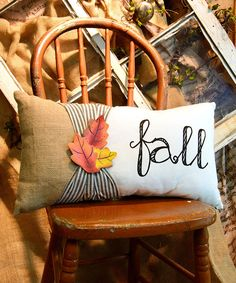 Love this 'Fall' Lumbar Pillow by The Round Top Collection on #zulily! #zulilyfinds