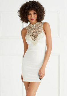 Vanessa Crochet Top Dress from Alloy on shop.CatalogSpree.com, your personal digital mall.