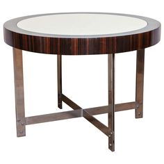 A De Koene Freres Parchment Surface Side Table | From a unique collection of antique and modern side tables at https://www.1stdibs.com/furniture/tables/side-tables/
