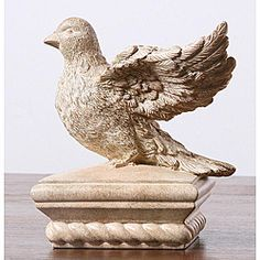 Shop for Bird Sculpture Fence Post Cap. Get free delivery On EVERYTHING* Overstock - Your Online Home Improvement Shop! Concrete Posts, Concrete Fence, Garden Railings, Fence Post Caps, Deck Posts, Crystal Garden, Building A Fence, Wooden Posts, Yard Care
