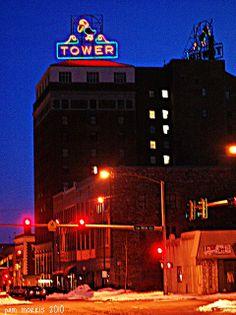 Jayhawk sign, atop the Jayhawk Tower, Topeka, Kansas Topeka Kansas, State Of Kansas, Let Freedom Ring, Empire State Building, American History, Tower, Florida, California, Memories