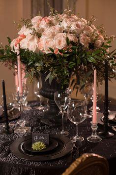 Bold Dramatic Blush and Black Wedding Ideas