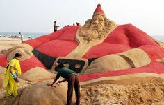 """""""Sand sculpture in India."""" -- Click through for 23 """"Christmas Photos From Around the World"""""""