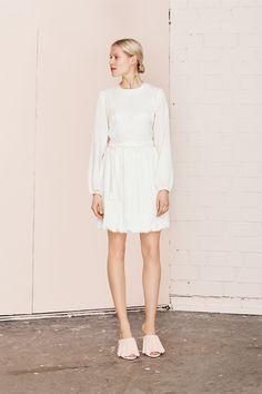 LEGATO white silk dress  UNDRESS SS17 collection  www.iwearundress.com