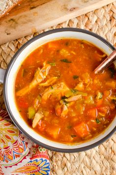 Slimming Slimming Eats Syn Free Spicy Chicken and Vegetable Soup - gluten free, dairy free, instant pot, paleo, Slimming World and Weight Watchers friendly - Slimming World Soup Recipes, Slimming World Dinners, Slimming Eats, Chicken And Veg Soup, Chicken And Vegetables, Chicken Curry, Healthy Eating Tips, Healthy Dinner Recipes, Healthy Soups