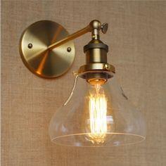 Amérique du rétro Loft industriel éclairage cru lampe murale de lumière dorée couleur Edison applique murale Lampara Pared(China (Mainland))