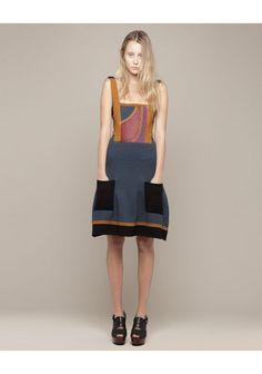 Proenza Schouler Patchwork Knit Dress