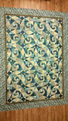 Storm at Sea and Snail Trail Quilt