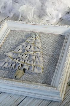 Hey, I found this really awesome Etsy listing at https://www.etsy.com/listing/243821095/christmas-tree-3d-ruffled-wall-decor-in