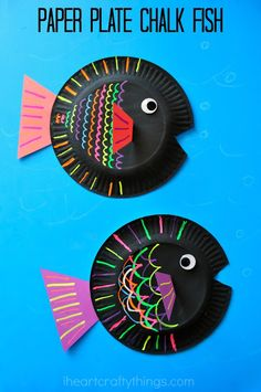 I HEART CRAFTY THINGS: Paper Plate Fish Kids Craft {using liquid chalk}