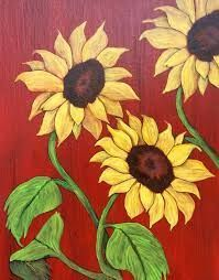 """Sunflowers by the Barn"" - Painting by Lorraine Skala - Please visit my Etsy Shop to purchase notecards or prints Autumn Painting, Painting On Wood, Painting & Drawing, Fence Painting, Red Barn Painting, Sunflower Art, Sunflower Paintings, Yellow Sunflower, Painting Flowers"