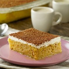 Learn how to make a cake three milks with coffee liquor - postres - Pastel de Tortilla Log Cake, Savory Pastry, Eat Dessert First, Snack, How To Make Cake, Vanilla Cake, Baked Goods, Sweet Treats, Deserts