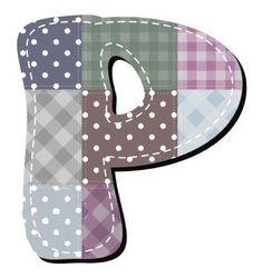 Buchstabe / Letter - P (Patchwork / Quilt)