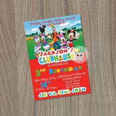 Gracias tarjeta de Mickey Mouse Clubhouse Mickey Mouse
