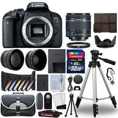 Canon T7i / 800D DSLR Camera  18-55mm IS STM 3 Lens Kit  32GB Best Value Kit