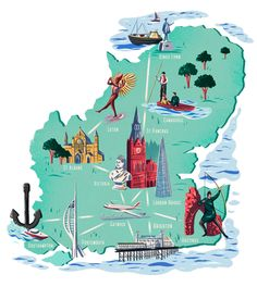 Adam Hancher - Map of SE England - that's easily done..