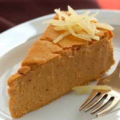 INGREDIENTS: Non-Stick cooking spray 3 (8 oz) bars Neufchatel cream cheese, warmed in microwave 15 seconds 1/3 cup brown sugar blend 3 large eggs 1 (15 oz) can pumpkin 1/2 cup low-fat maple or vanilla yogurt 2 tbsp flour 1-1/2 tsp ground cinnamon 1 tsp ground ginger 1 tsp imitation maple or rum flav…