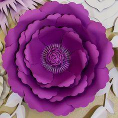 Plantilla de flor flor de papel DIY Telón de fondo por APaperEvent