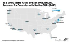 American Metro Areas Compared to Countries