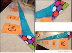 Duct tape number line