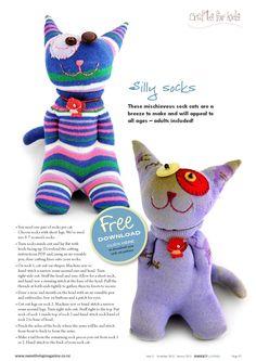 ISSUU - Sweet Living Magazine  Free sock doll pattern