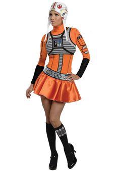 Sexy X-Wing Pilot Costume, Star Wars