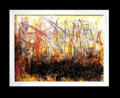 TITLE: HUMUS  This image in 100 per cent is painted by hand, ink, painted  on the high quality, glossy chalk overlay paper.  Framed image in white, wooden frame.  The image contains the signature and the authenticity certificate. Size of the painting image 11,3 x 15,2 inches 28,7 x 38,6 cm