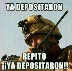 ya-depositaron Funny Spanish Memes, Spanish Humor, Funny Jokes, Hilarious, Mexican Quotes, Mexican Humor, Humor Mexicano, Funny Phrases, Beltane
