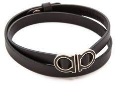 Salvatore Ferragamo Gancio Double Wrap Bracelet on shopstyle.com