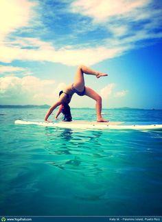 #Yoga Poses Around the World: Full Wheel Pose taken in Palomino Island, Puerto Rico by Kelly M.  El Conquistador Resort & Las Casitas Village  ElConResort.com | Puerto Rico